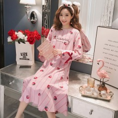PA1692 Cotton Strawberry Sleep Wear 草莓睡裙