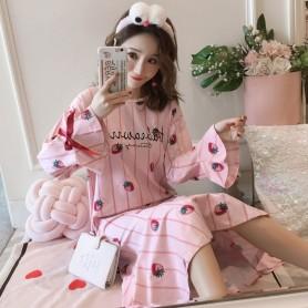 PA1692 Cotton Strawberry Sleep Wear 草莓睡裙