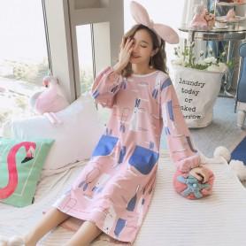 PA1693 Cotton Rabbit Sleep Wear 兔子睡裙