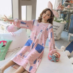 PA1693 Cotton Rabbit Sleep Wear 兔子睡裙