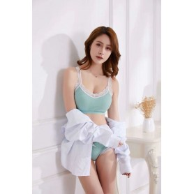 F99 Lovely Cotton Lace Inner Set With Panties