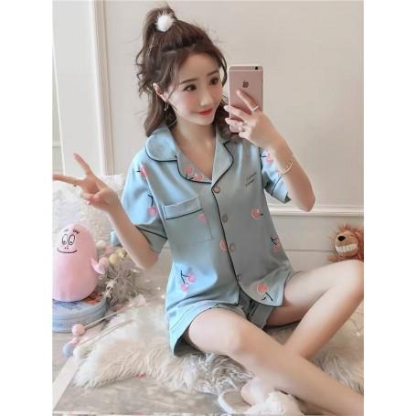 329 Cotton Cherry Sleep Wear Pajamas
