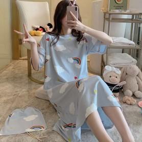 PA1210 Cotton Nylon Pajamas Rainbow