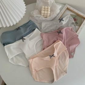 Simple Plain Kawaii Panties 5pcs Set